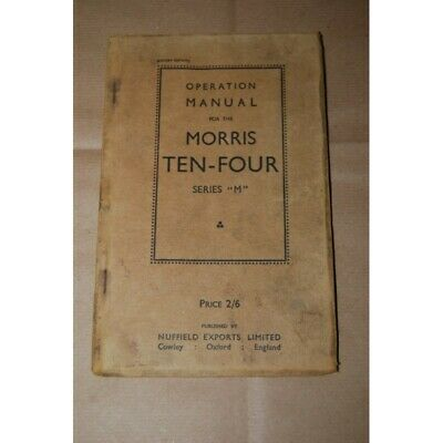 Operation Manual For The Morris Ten Four Series M - English