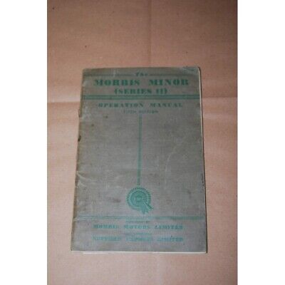 The Morris Minor Series Ii Operation Manuale Fifth Ed. - English