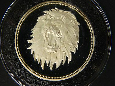 1969 Yemem Proof 1 Riyals Lion Silver Coin!! Comes in Airtite Capsule!