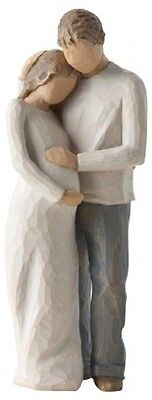 Willow Tree Home Figurine Pregnant Woman Family Sculpture Carving Ornament Love