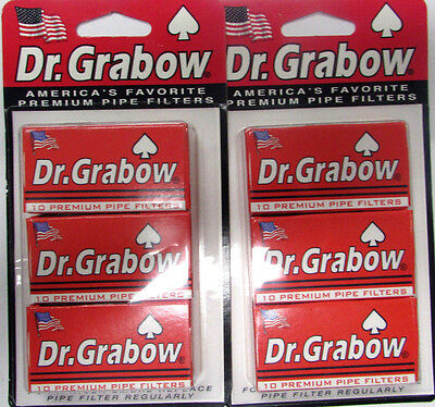 Dr Grabow ® Pack Of 6 Premium Pipes Filters New