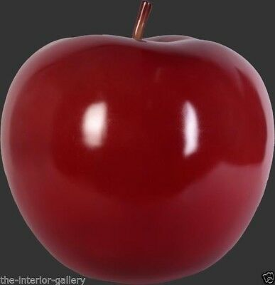 Apple Sculpture - Apple Figurine - Apple Decor - Red Apple Large Statue