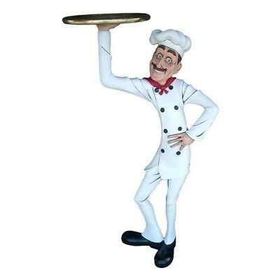 Skinny Cook Butler Statue - Butler Statue - Skinny Cook with Tray Statue 4 FT
