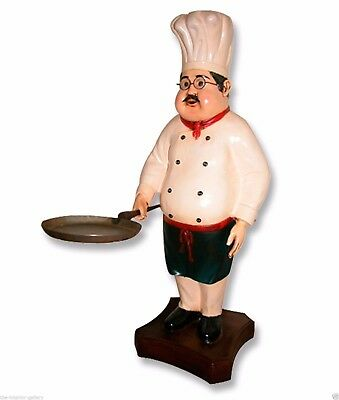 Chef Statue - Cook Statue - Restaurant - Chef Statue with Skillet Pan 2FT