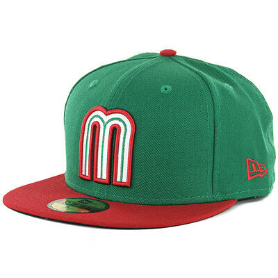 New Era 59FIFTY World Baseball Classic WBC Mexico No Flag (KG-RD) Fitted Hat Cap