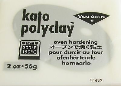 KATO POLYCLAY - Polymer Clay - 56g BLOCK - TRANSLUCENT