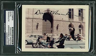 Dwight D. Eisenhower Authentic Signed 3x5.5 Kodacolor Photo PSA/DNA Slabbed