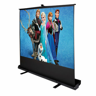 """4:3 80"""" Inch Portable Pull Up Floor Projector Projection Screen w/Aluminium Case"""