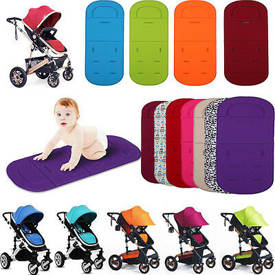 Washable Baby Kids Stroller Pram Pushchair Car Seat Liner Pad Mat Soft Cushion #
