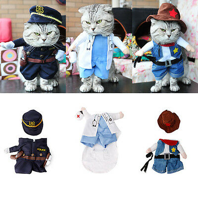 Funny Pet Costume Dog Cat Costume Cat Clothes Sexy Nurse Policeman Cowboy