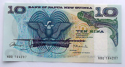 Papua New Guinea 10 Kina 1985 Issue Pick 7 Signature 1 GEM UNC, Earliers Years