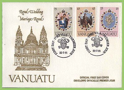 Vanuatu 1981 Royal Wedding, Charles & Diana set First Day Cover