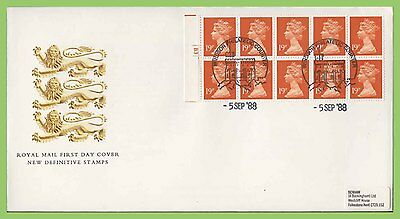 G.B. 1988 £1.90 10 x 19p booklet pane Pl. No. Royal Mail First Day Cover Windsor