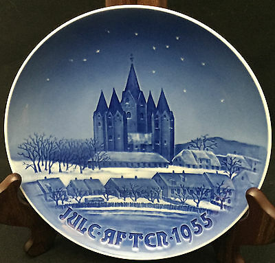 1955 Bing & Grondahl Christmas Plate - Kalundborg Church