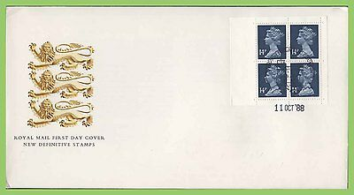 G.B. 1988 56p, 4 x 14p booklet pane on u/a Royal Mail First Day Cover Windsor