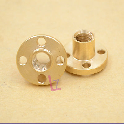 T8 Brass Nut For 8mm Threaded Rod Stainless Lead Screw CNC 3D Printer Reprap