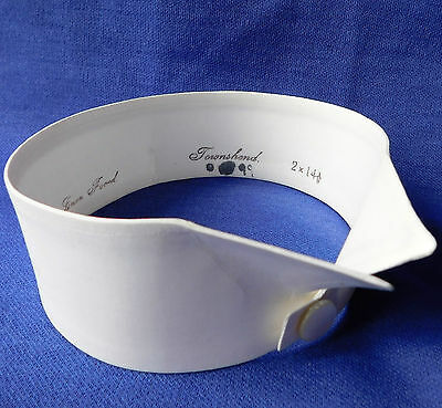 """Vintage wing collar Townshend 14.5 stiff starched c 1920s separate detachable 2"""""""
