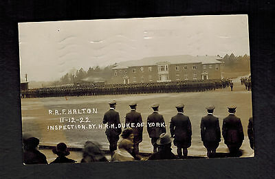 1923 England Postcard Cover Royal Air Force RAF Halton Camp Inspection Duke York