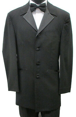 48XL Black Tuxedo Jacket Frock Coat Theater Costume Retro Pimp Steampunk Discoun
