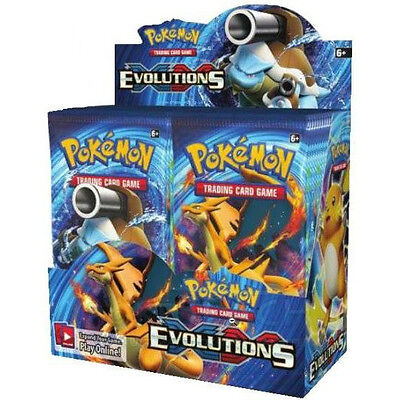 Pokemon XY Evolutions Booster New Sealed TCG Card Game - 3 BOOSTER PACK