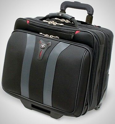 17 Inch Case Bag Traveling Business Luggage Roller Wheels Carry Computer Laptop
