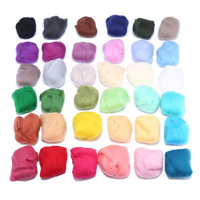 Colorful Dyed Needlefelting Wool Corriedale Knitting Top Roving Spinning Fibers