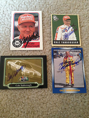 Lot Of 4 Cale Yarborough Signed Autograph Nascar Cards Masters Of Racing Blue