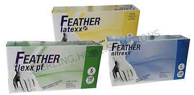 Disposable Latex, Vinyl or Nitrile Gloves - Powdered or Powder Free - Box of 100