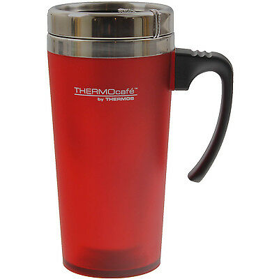 Thermos ThermoCafe 420ml Zest Red Travel Mug Insulated Cup Tea Coffee Drinks New