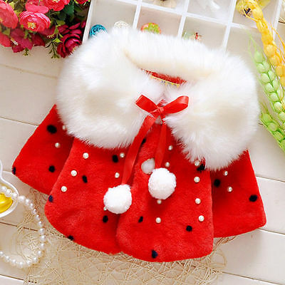 2016Born Infant Baby Girls autum Outerwear Hooded cappa Coat Warm Winter Clothes