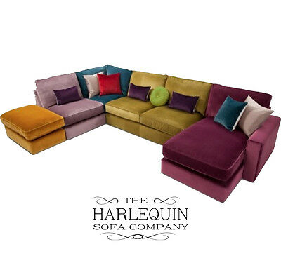 Harlequin 5 Seater Corner Sofa Suite, Chaise Longue Beds, Lounge, Couch, Settees