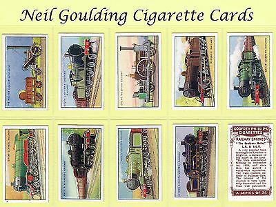 Godfrey Phillips - Railway Engines 1934 #1 to #25 Cigarette Cards
