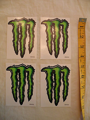 NEW - Set of 4 MONSTER Energy Drink decals