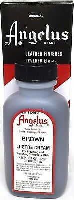 TAN Color LUSTRE CREAM Cleaner AND Polish for Leather Shoes Boots luster ANGELUS