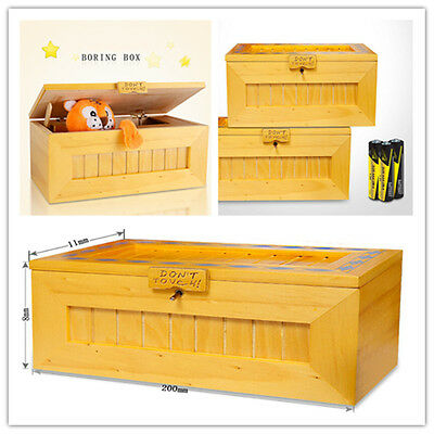 New Don't Touch Tiger Useless Box Wooden Leave Me Alone Box Useless Machine Toy