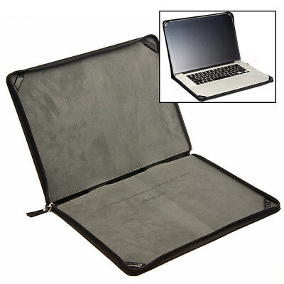 """Cover Leather Sleeve Hard Protection Case for Laptop MacBook Pro 15-inch 15"""" R"""