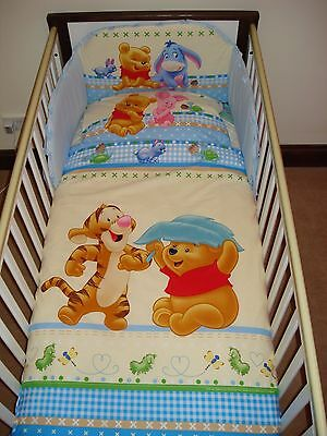 Disney Winnie & Tigger Blue Bedding Set for Cot or Cotbed