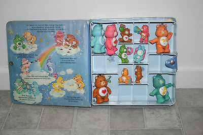 Vintage Kenner Care Bears Case with 10 PVC Figures