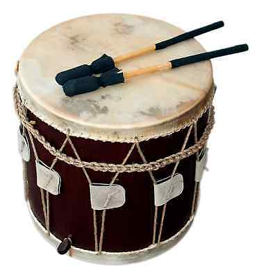 "Mittelalter Trommel / Medieval Drum, 13,5"" x 13,5"", Dark Brown"