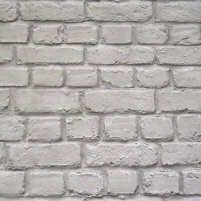 Grey Brick Effect Wallpaper - Rasch 226720 - New Stone