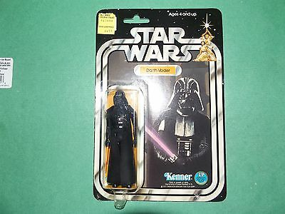 1977 Vintage Star Wars 12 Back Darth Vader,  Very Solid Card + Bubble! Beauty!!
