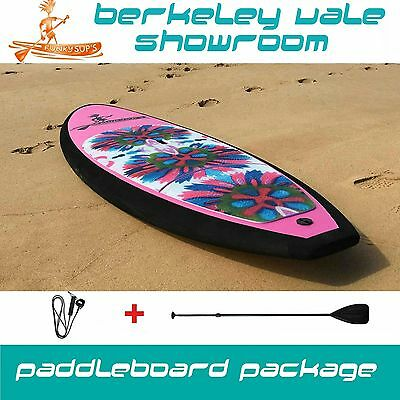 Kids Stand up paddleboard SOFT TOP 7'10 Package with Paddle 'Flower Grom'