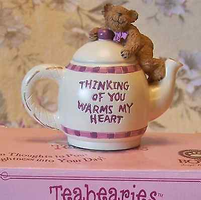 Boyds Bears Teabearies Thinking of You Warms My Heart Teddy Bear Greeting Gift