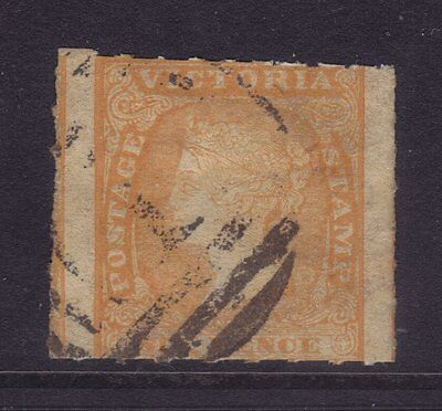 Victoria Sg 53a,Sc#20a; 6d Rouletted Woodblock Fine Used.Very Scarce.