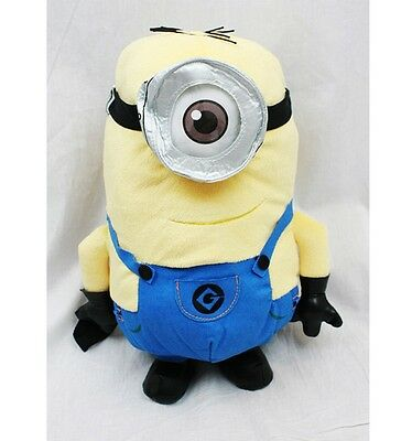 """Disney Despicable Me 2 Minions Stuart 15"""" Plush Backpack Tote-Licensed-NEW!"""