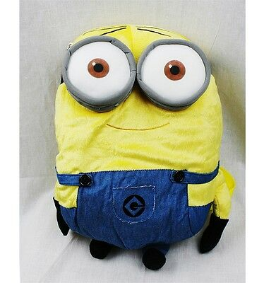"""Disney Despicable Me 2 Minions Stuart 14"""" Plush Backpack Tote-Licensed-NEW!"""