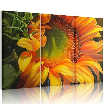 Beautiful Sunflower Unframed HD Canvas Print Wall Art Picture Home Decor Poster