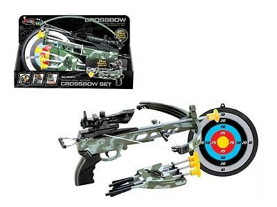 Stealth Cross Bow Military Archery Set Target Boys Outdoor Toy Children Xmas UK