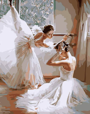 FD4193 Ballet Dancers Digital Oil Painting On Canvas Paint By Number DIY Kit