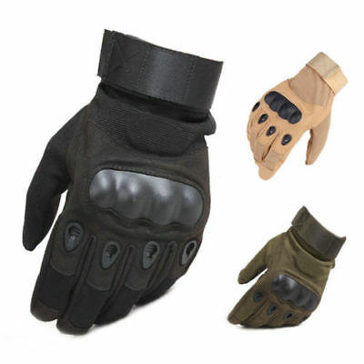 Police Men's Force Tactical Gear Gloves Full Finger Hard Knuckle SWAT Work Wear